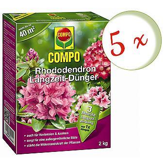 Sparset: 5 x COMPO Rhododendron Langsiktig gjødsel, 2 kg