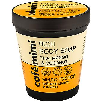 Cafe Mimi Thai Mango & Coconut Thick Body Soap 220 ml