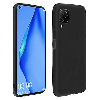 Case for Huawei P40 lite Soft Silicone Matte Black + Flexible screen protector