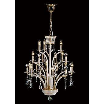 Orleto Pendant Lamp 12 Bulbs Gold / Crystal (assembly Required)