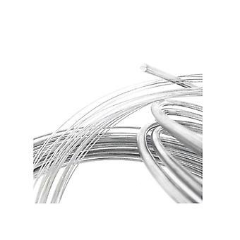 1M Sterling Silver 1Mm Hard Argentium Round Wire Rod 18 Gauge