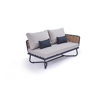 Polyrattan Final Sofa Astra - méz