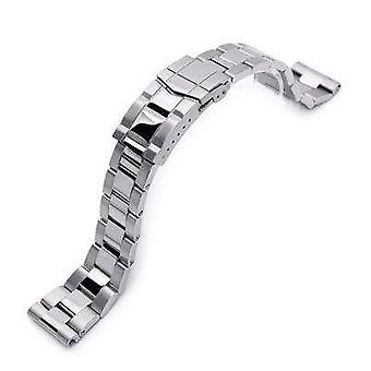 Strapcode watch bracelet 22mm super oyster watch band universal straight end version, brushed & polished submariner clasp
