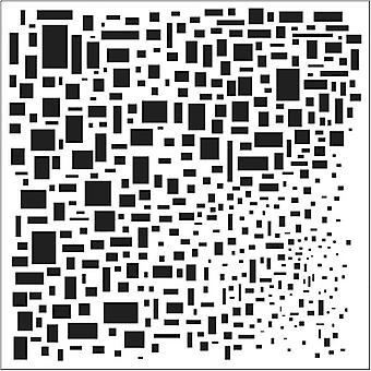 The Crafter's Workshop Cubist 6x6 Inch Stencil