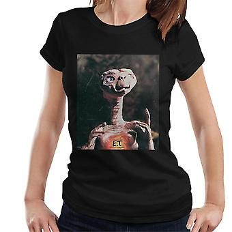 E.T. The Extra-Terrestrial Distressed Photo Women's T-Shirt