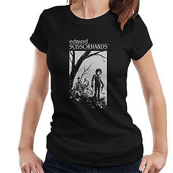 Edward Scissorhands Sketch Art Women's T-Shirt