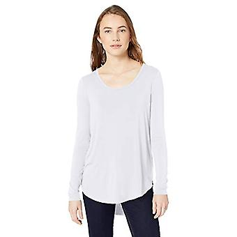 Brand - Daily Ritual Women's Jersey Long-Sleeve Scoop Neck Shirt, Whit...