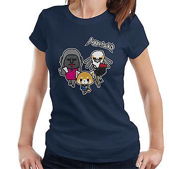 Aggretsuko Retsuko con colegas Mujeres's Camiseta