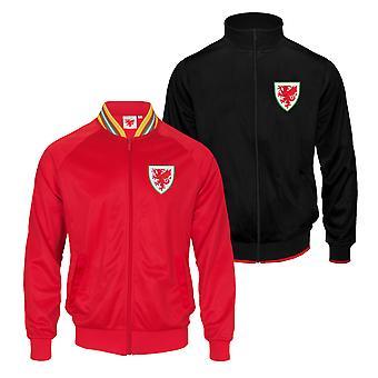 Pays de Galles Cymru FAW Officiel Football Gift Mens Retro Track Top Jacket