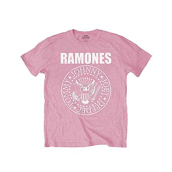 Ramones Kids T Shirt Presidential Seal Band Logo new Official Pink Ages 3-14yrs