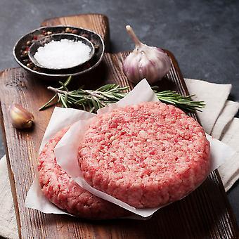 Fresh British 6oz Seasoned Steak Burgers