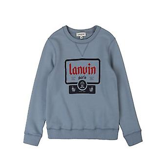 Lanvin Kids Slate Blue Sweatshirt