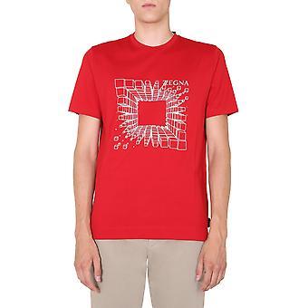 Z Zegna Vv372zz630r6r3 Männer's rote Baumwolle T-shirt