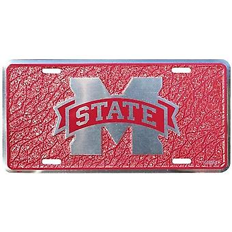 Mississippi State Bulldogs NCAA Mosaic License Plate