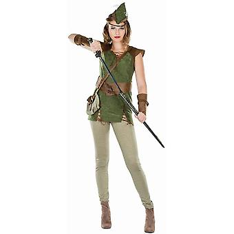 Queen of Thieves Archer Robin Hood Ladies Kostume Medieval Tre Musketer Hunter