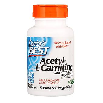 Doctor's Best, Acetyl-L-Carnitine with Biosint Carnitines, 500 mg, 60 Veggie Cap