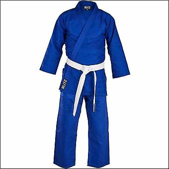 Blitz sports lightweight student judo suit - blue