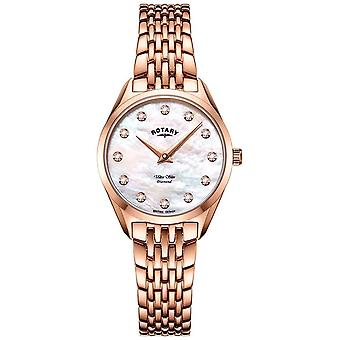 Rotary Ultra Slim Ladies Rose Gold Bracelet LB08014/41/D Watch