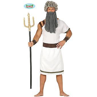 Costume de carnaval de gladiateur spartiate pour combattant masculin Trident de Poséidon