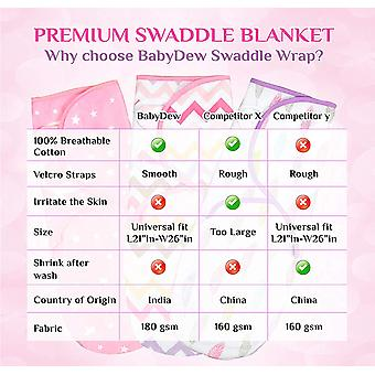 Baby Swaddle Wrap Blanket for Newborn & Infant | 0-3 Month, Pink, Size No Size
