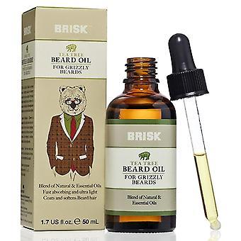 Brisk beard oil, tea tree, 1.7 oz *