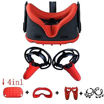 4in1 Full Body Protective Cover Case Frame Silicone Face Mask For Oculus Quest Head Cover Controller Grip Skin Accessories