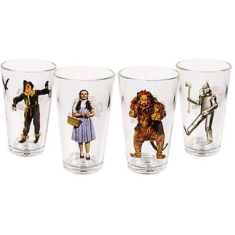 Wizard of Oz Character Tumblers Set of 4
