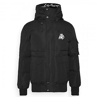 Kings Will Dream Milford Black Puffer Bomber Jacket