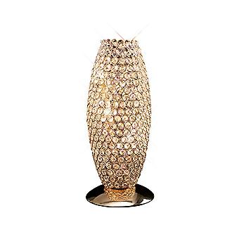 Lâmpada de Mesa 3 Ouro Francês Leve, Cristal