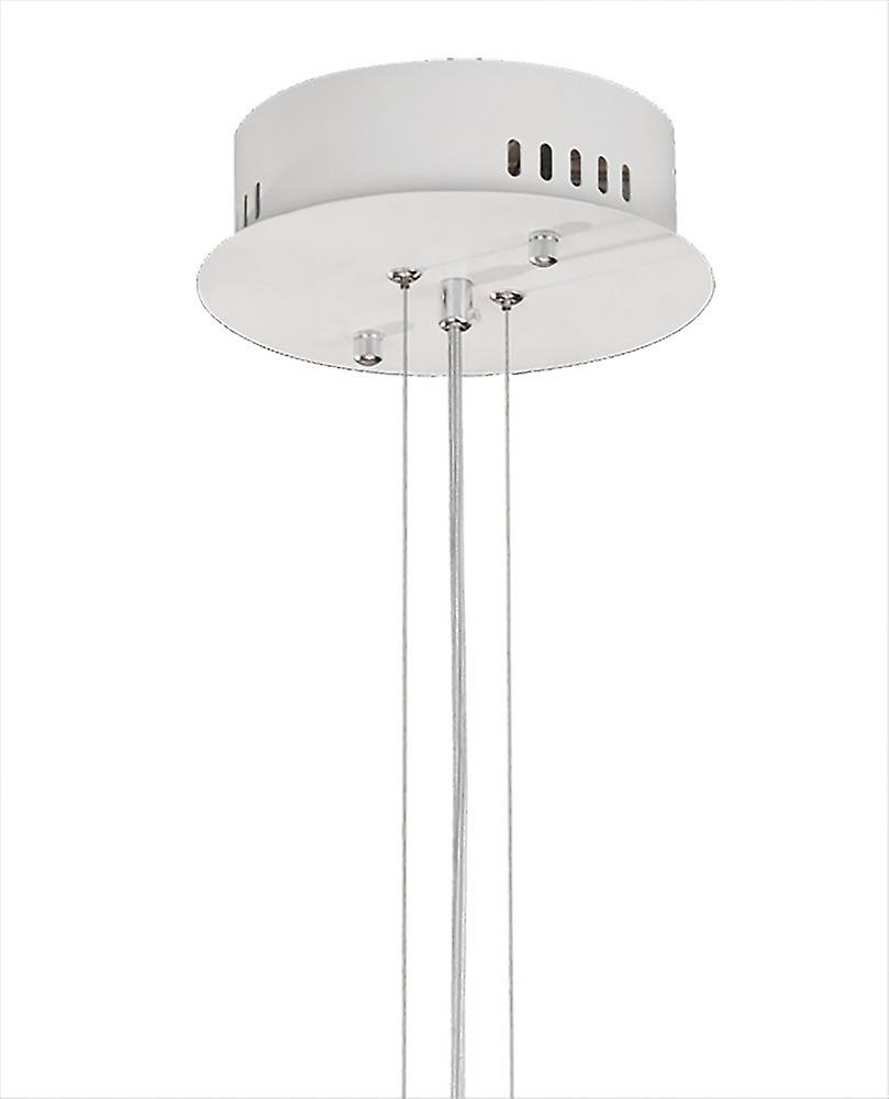 Inspired Mantra - Orbital - Ceiling Pendant Round 60cm, 4 Ring, 90W LED 3000K, 3250lm, RF Remote Control White