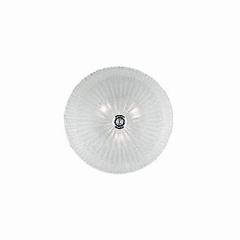 Ideale Lux Shell - 3 Light Indoor Flush Wand / Deckenleuchte Chrom mit Klarglas, E27