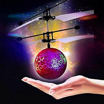 infrapuna induktio drone alla flash led valaistus pallo helikopteri kid lelu