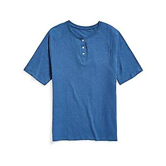 Essentials Men's Big & Tall Short-Sleeve Slub Henley T-Shirt fit by DXL