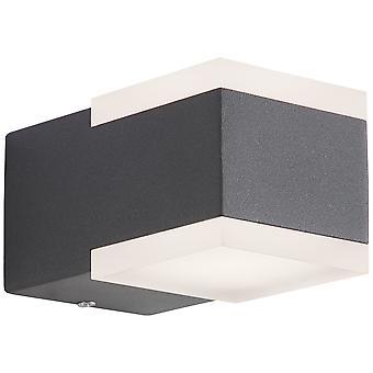 AEG Lamp Amity LED Outdoor Wall Lamp 2flg Up/Down Antraciet   2x 3W LED geïntegreerd, (222lm, 3000K)   Schaal A++ naar E   Type IP-beveiliging: