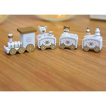 Christmas New Year Decoration For Home With Santa - Wooden Train Christmas Angel Pendant Hanging Decor Kids Toys Ornament