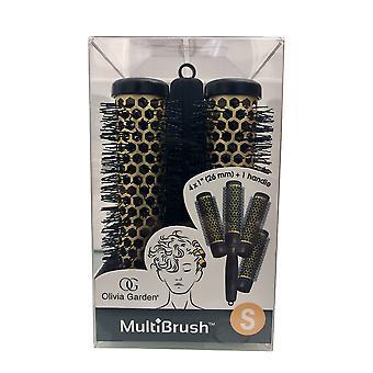 "Olivia Garden Multibrush Detachable Thermal Styling Hair Brush Kit 4 x 1"" 26 mm"