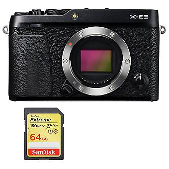 Fujifilm X-E3 Body Black + cartão SD de 64GB