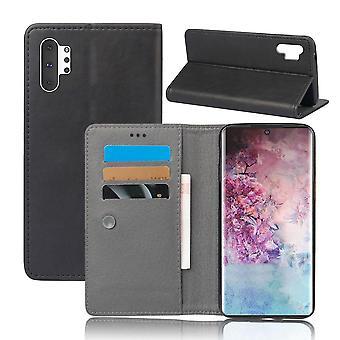 Ledertasche für Samsung Galaxy S10+/ S10 Plus Schwarz kusiqi-741