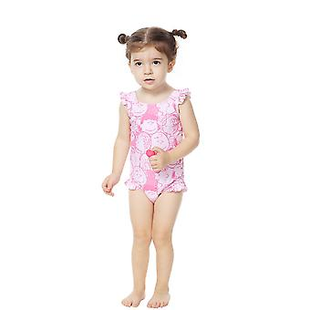 Bonverano Baby Girls UPF 50+ Sun Protection Sleeveless Swimsuit