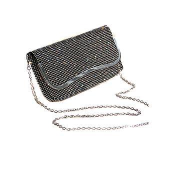 Damas diseñador inteligente look bolso de embrague suave Diamante todo