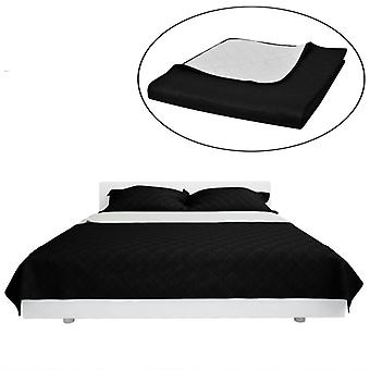 Two-sided quilt edging bed blanket black/white 220x240cm