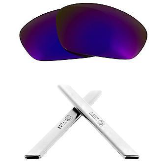 استبدال العدسات وعدة لأوكلي على التوالي سترة مرآة الأرجواني والأبيض المضادة للخدش المضادة للوهج UV400 من قبل SeekOptics