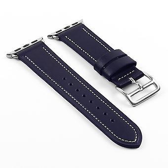 Strapsco dassari smooth leather strap for apple watch