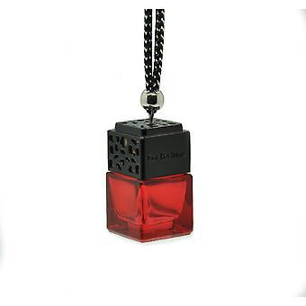 Designer i bil luft ferskere diffuser olje duftinspirert av (Tom Ford toskansk skinn for ham) parfyme. Svart lokk, Rød Flaske 8ml