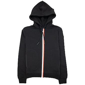 Moncler Tricolore Zip Hoody Negro