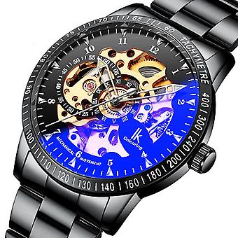 IK COLOURING 98226G Skeleton Dial Automatic Mechanical Watches Business Style
