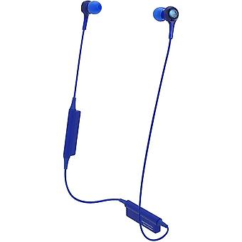 Audio-technica ath-ck200bt bluetooth wireless in-ear headphones with in-line mic & control, blue
