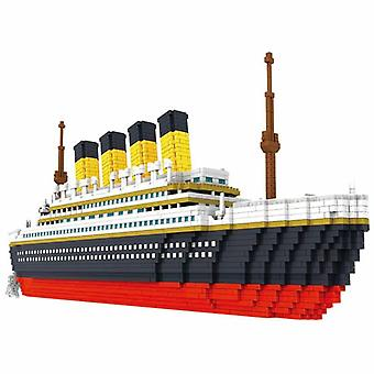 Building Block Titanic Cruise Ship Model, Boat Diy, Assemble Diamond Blocks,
