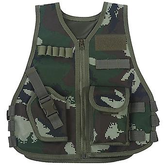 Combat Style Vest - Camouflage Hunting Clothes, Tactical Waistcoat