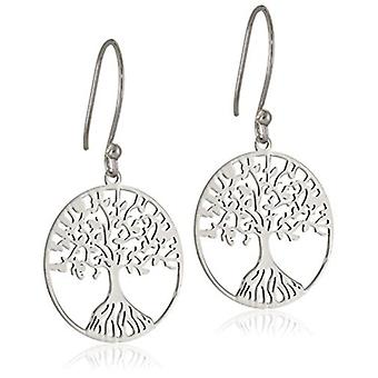 Sterling Silver Tree of Life Earrings, Silver, Size No Size